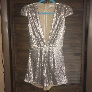 Sequence low cut romper NEW